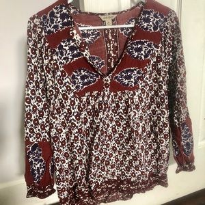 Lucky Brand Tops - Lucky Brand Floral Blouse